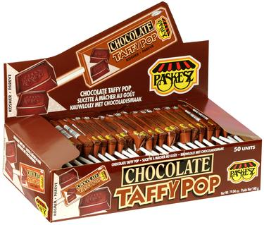 Chocolate Taffy Pop - 50CT Box
