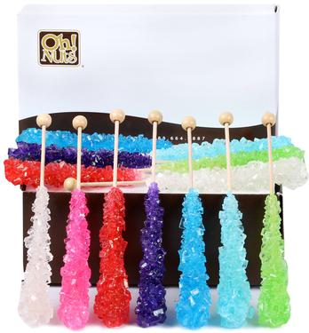 Colorful Rock Candy Swizzle Sticks