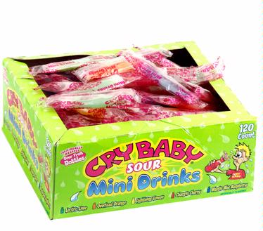 Cry Baby Sour Mini Drinks - 120CT Box
