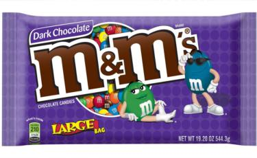 Assorted Rainbow M&M's Dark Chocolate Candy - 19.2 oz Bag