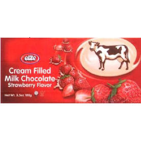 Passover Elite Milk Chocolate Filled Strawberry Cream - 12PK