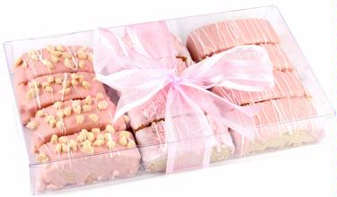 Baby Girl Chocolate Biscotti Gift Box