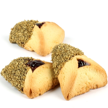 Gold Sprinkled Chocolate Dipped Hamantashen - 8CT Box
