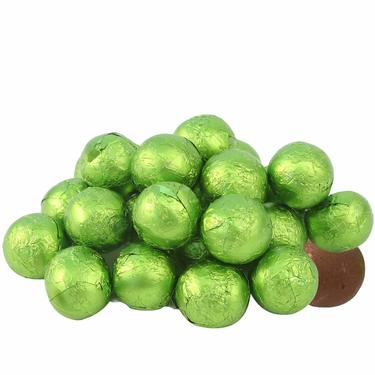 Light Green Milk Chocolate Balls - Key Lime
