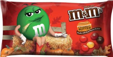 Harvest Blend Peanut Butter M&M's - 11.4 oz Bag