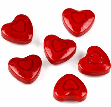 Red Hearts Pressed Candy