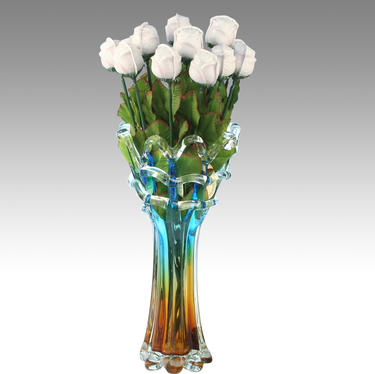 White Rose Home Vase