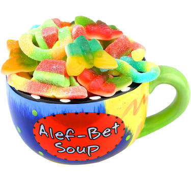 Alef-Bet Gummy Candy Mug