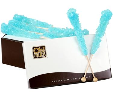 Light Blue Rock Candy Crystal Sticks - Cotton Candy