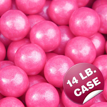 Bright Pink Pearl Gumballs (850CT Case)