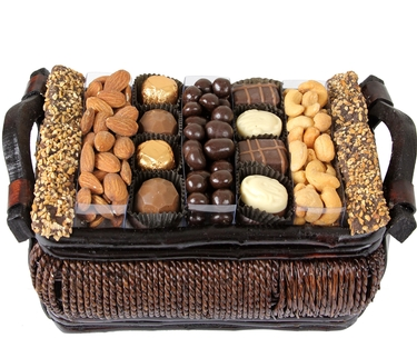 Holiday Gourmet Signature Wicker Basket - 6