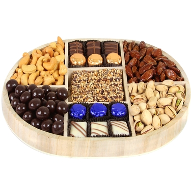 Hanukkah 7-Section Wooden Gift Tray