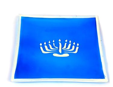 Hanukkah Blue & White Ceramic Gift Tray