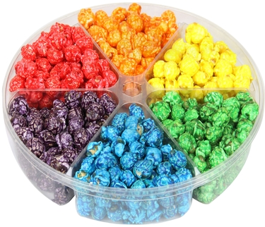 6-Section Candy Coated Popcorn Tray