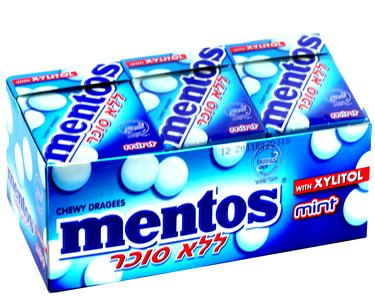 Sugar-Free Mint Mentos Box - 12CT Case
