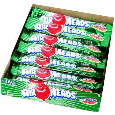 Watermelon AirHeads Taffy Candy Bars - 36CT Case