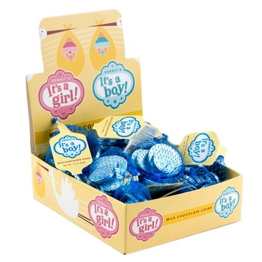 'Its a Boy' Chocolate Foiled Coins - 18 Piece Box
