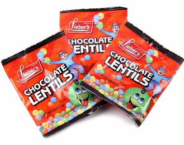 Lieber's Chocolate Lentils Bags - 12 Pack