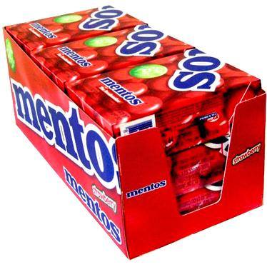Strawberry Mentos Box - 9CT Case