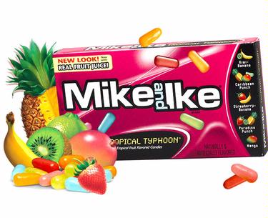 Mike & Ike Jelly Candy - Tropical Typhoon - 24CT Box