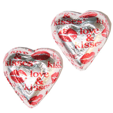 Loves & Kisses Milk Chocolate Hearts