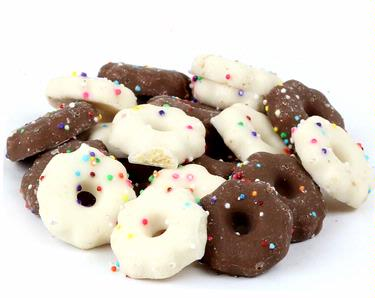 Bite-Size Brown & White Chocolate Confetti Cookies - 10 oz
