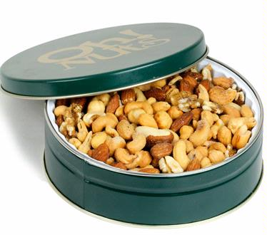 Holiday Nut Tin Gift