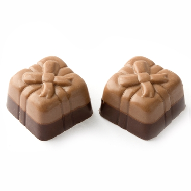Non-Dairy Two Tone Brown Gift Box Chocolates