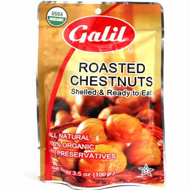 3.5 oz Organic Peeled Roasted Chestnuts - 24CT Case