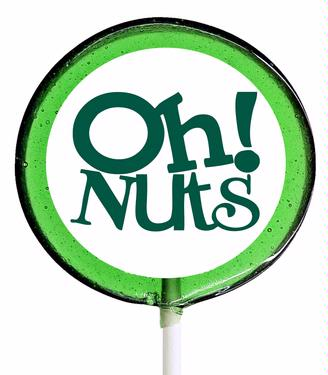 Green Oh! Nuts Lollipop