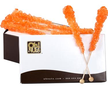 Orange Rock Candy Crystal Sticks