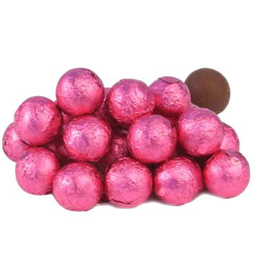 Hot Pink Milk Chocolate Balls - Raspberry