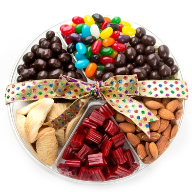Purim Mishloach Manot Gift Tray - 6 Section