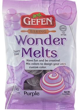 Non-Dairy Purple Melting Chocolate Wafers