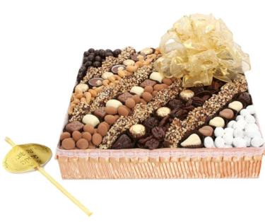 Rosh Hashanah Large Nuts & Chocolate Gift Basket
