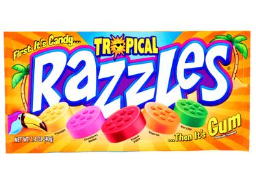 Tropical Razzles Candy Gum