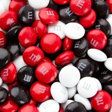 Red, Black & White M&M's Chocolate Candy