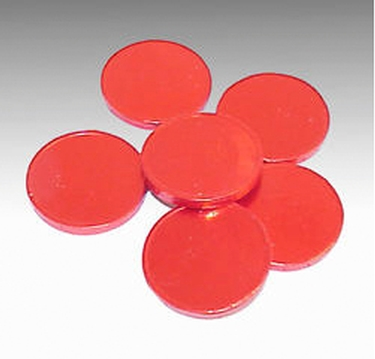 Red Blank Milk Chocolate Coins