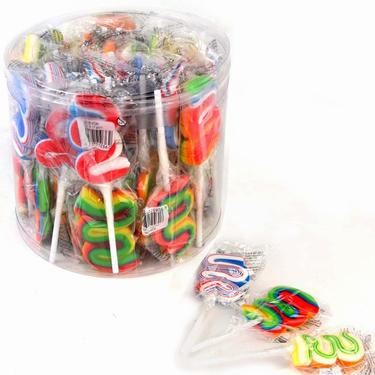 Handmade Swirl Snake Lollipops - 40CT Tub