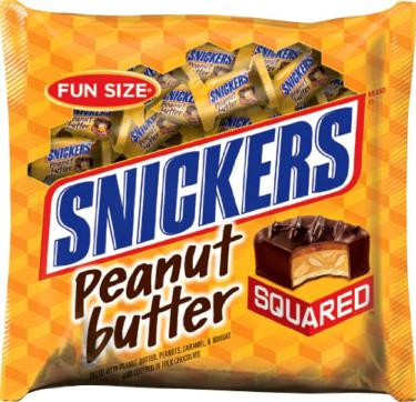 Snickers Fun Size Peanut Butter Squared Bars - 11.5 oz Bag