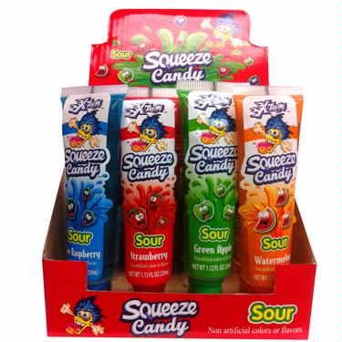 Squeeze Candy Tubes - 16CT Box