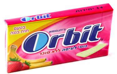 Orbit Strawberry Banana Gum Sticks