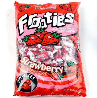 Red Tootsie Roll Frooties Taffy Candy - Strawberry