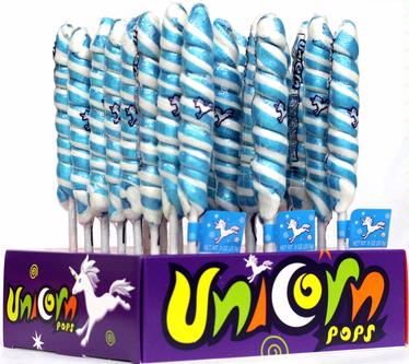 Light Blue & White Unicorn Pops - 24CT Display Box