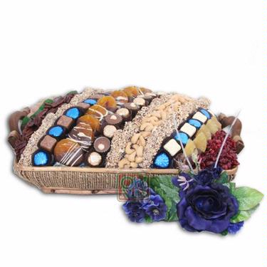 LG Israel Hanukkah Chocolate & Nut Basket