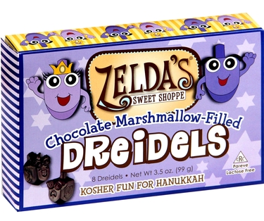 Marshmallow Filled Chocolate Dreidels Gift Box