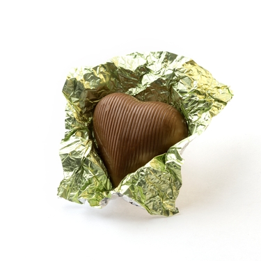 Leaf Green Foiled Milk Chocolate Hearts