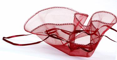 Burgundy Red Organza Bags - 12-Pack