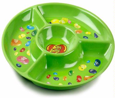 Jelly Belly Green Melamine Chip & Dip Tray