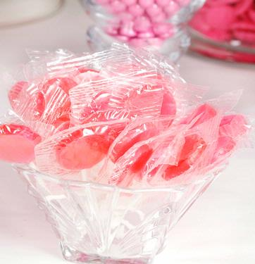 Baby Pink Lollipops - Strawberry